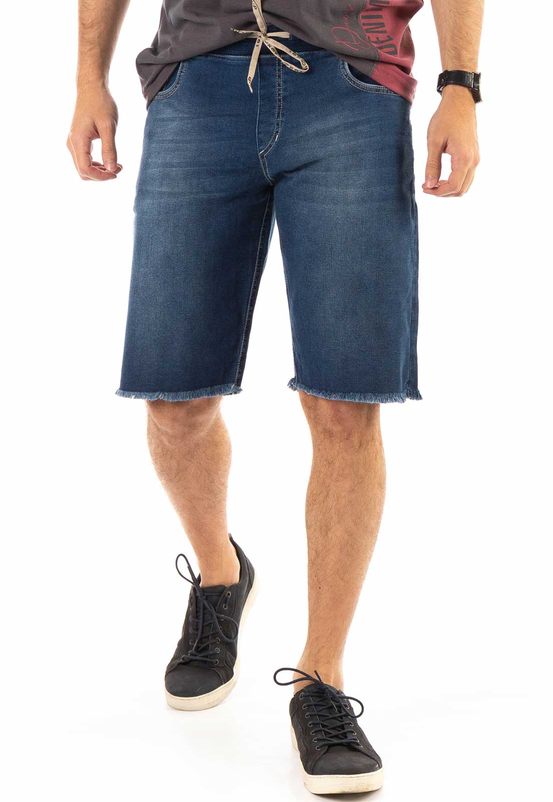 Bermuda Jeans Dioxes com Ribana