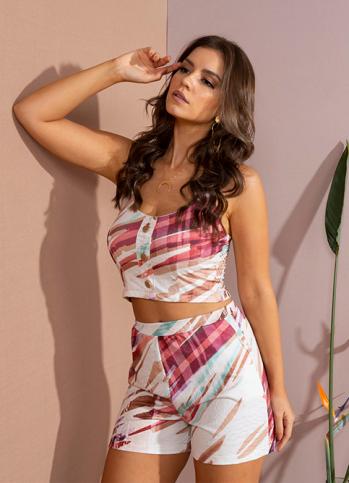 Blusa Dioxes feminina crooped verão