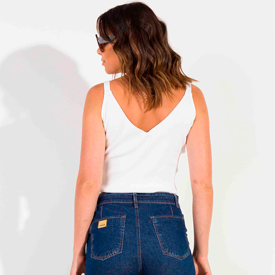 Blusa Dioxes feminina tricô verão modal