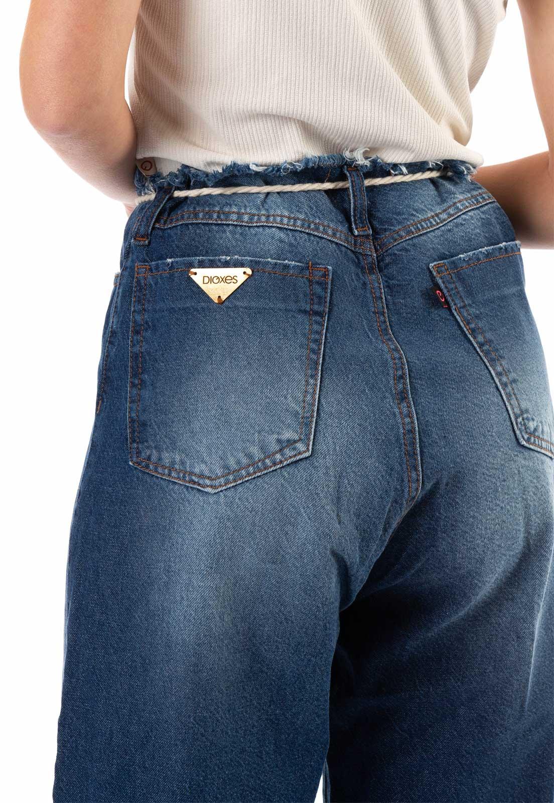 Calça Jeans Feminino Pantacourt Azul