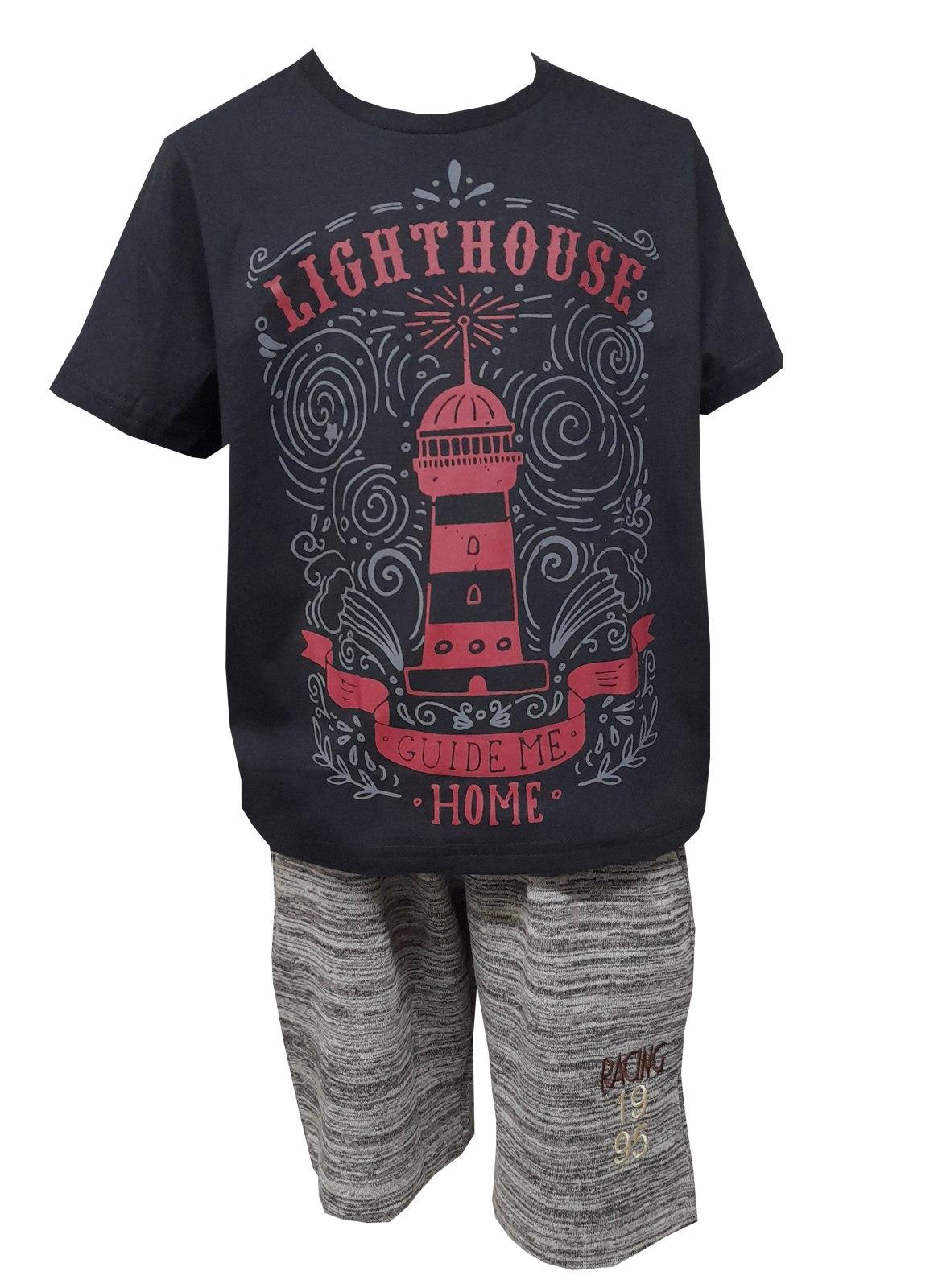 Camiseta Carlan infantil masculina estampa farol