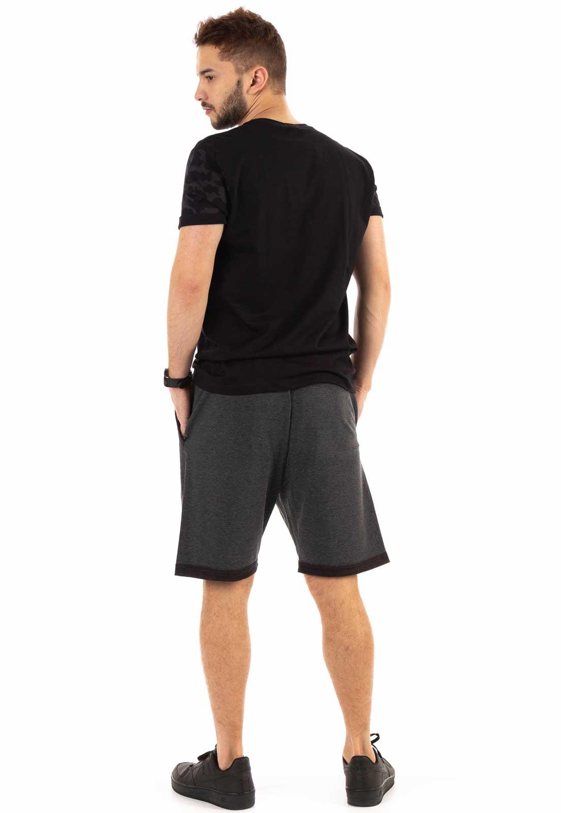 Camiseta Dioxes Camuflada Preto