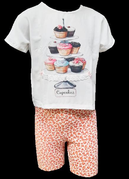 Conjunto Carlan feminino cupcakes