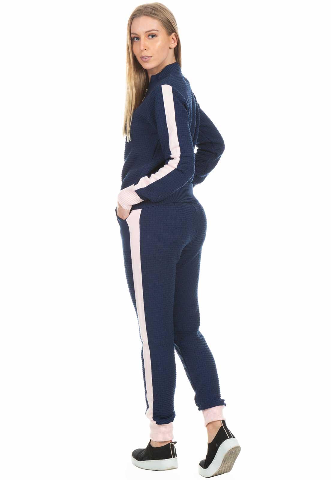 Conjunto Dioxes Calça e Jaqueta de Tricot