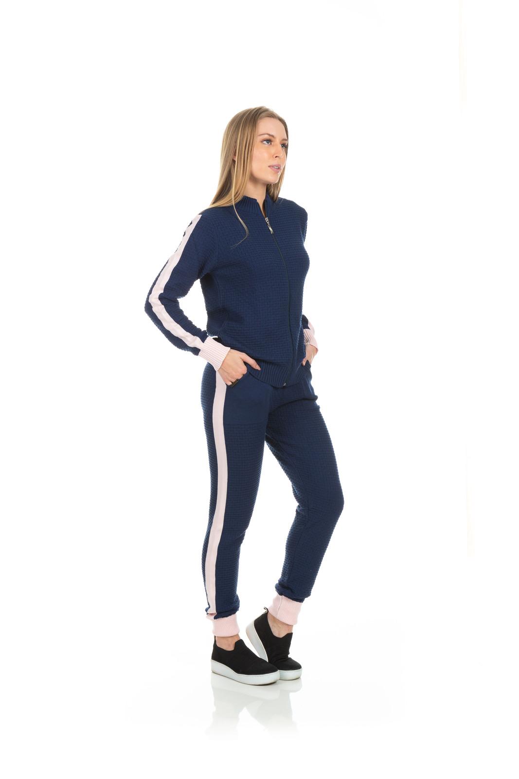 Jaqueta Dioxes em trico com ziper e detalhe na manga