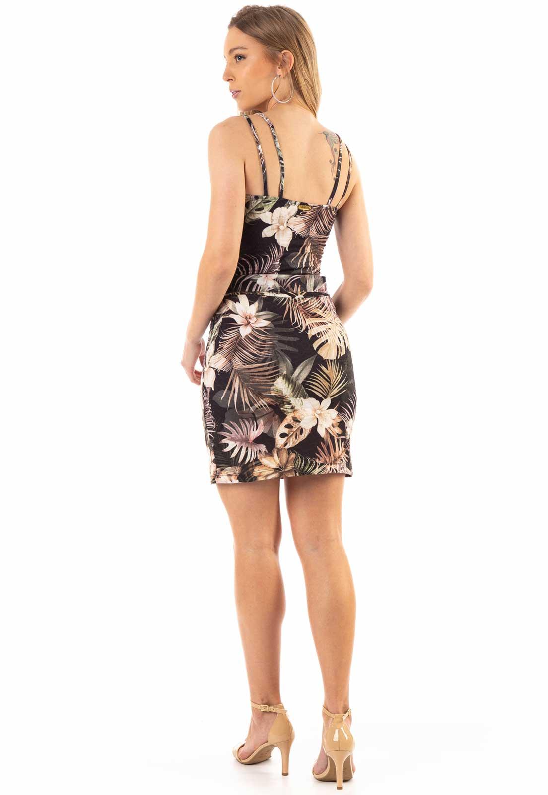 Vestido Dioxes com Estampa Preto