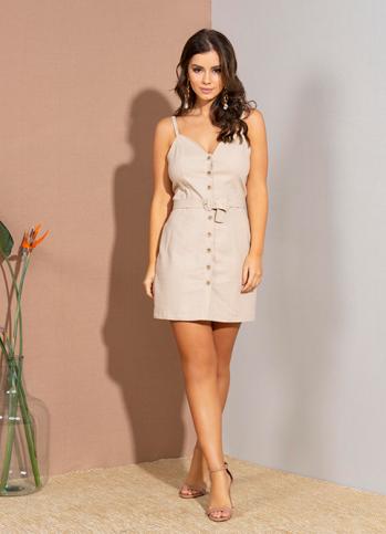 Vestido Dioxes feminino linho verão