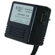 FONTE P/ MODEM SPEEDY THOMSON / DS LINK - BIV. 15VAC 1A - PLUG P4 180G (5,5 X 2,1MM)