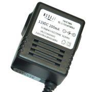 FONTE P/ TEL. S/ FIO MOTOROLA - BIV. 12VDC 200MA - PLUG P8 180G (5,5 X 2,5MM) (+)