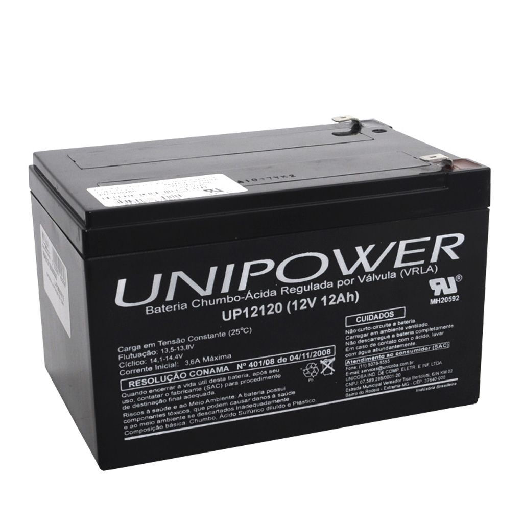 BATERIA SELADA UNIPOWER 12V 12AH (UP12120)