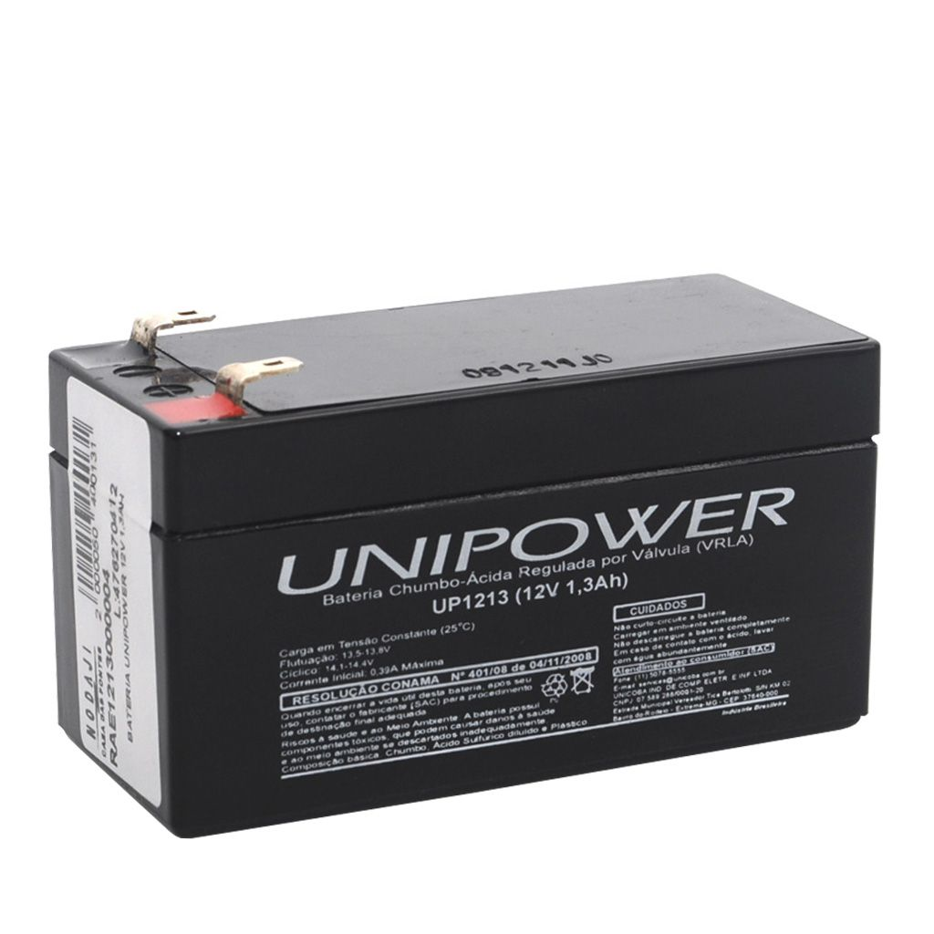 BATERIA SELADA  UNIPOWER 12V 1,3AH (UP1213)