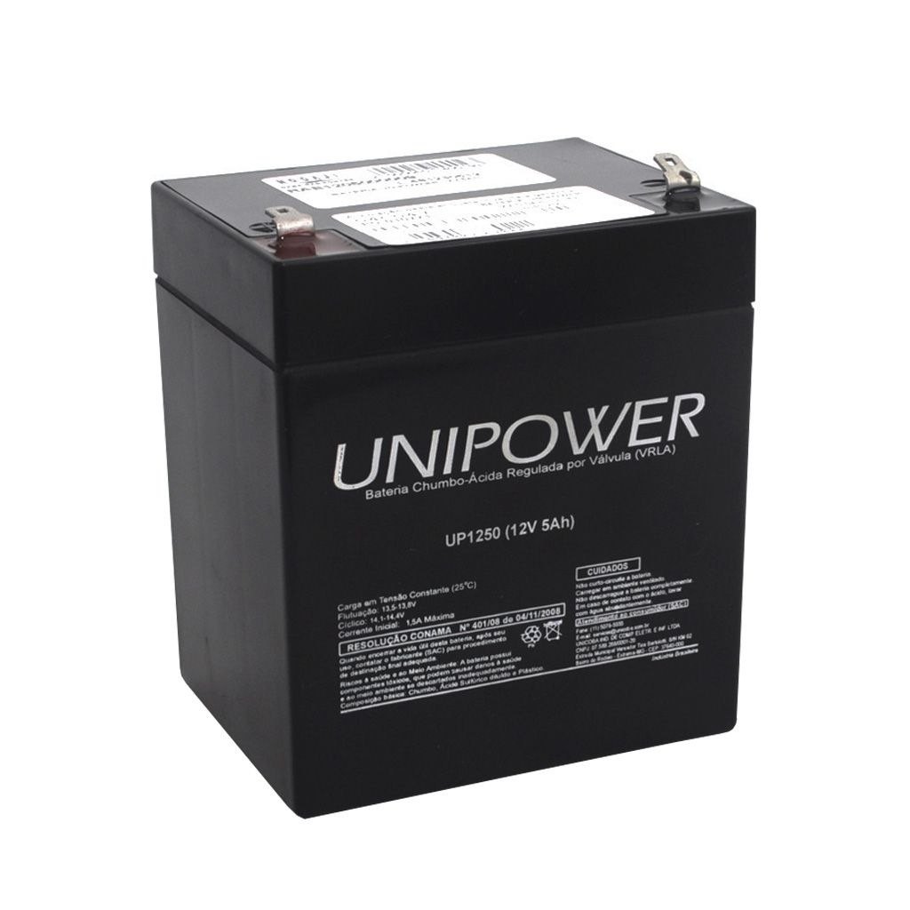 BATERIA SELADA UNIPOWER 12V 5AH (UP1250)