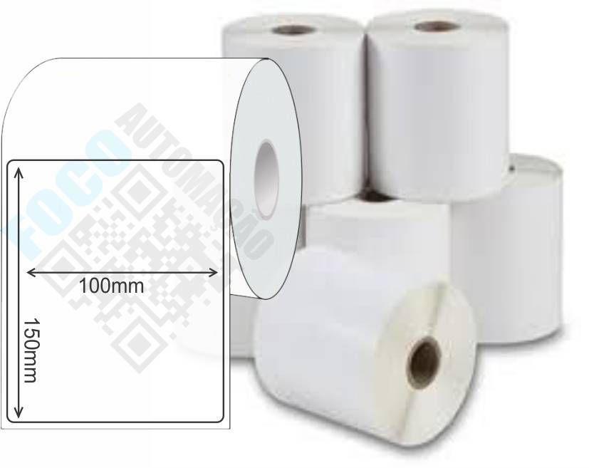 Etiqueta Adesiva 100mm X 150mm (4 Rolos c/ 290 un. cada)