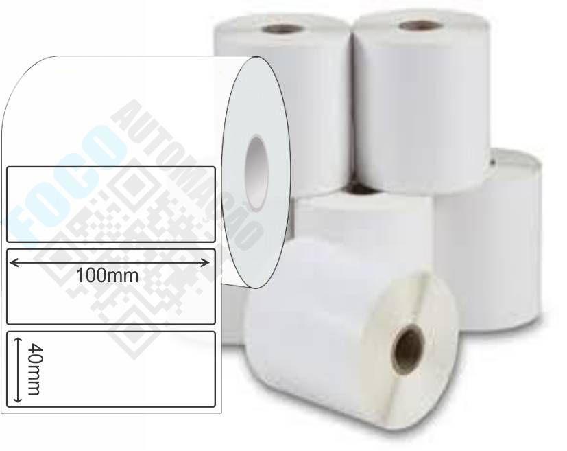 Etiqueta Adesiva 100mm X 40mm (4 Rolos c/ 1.000  un. cada)