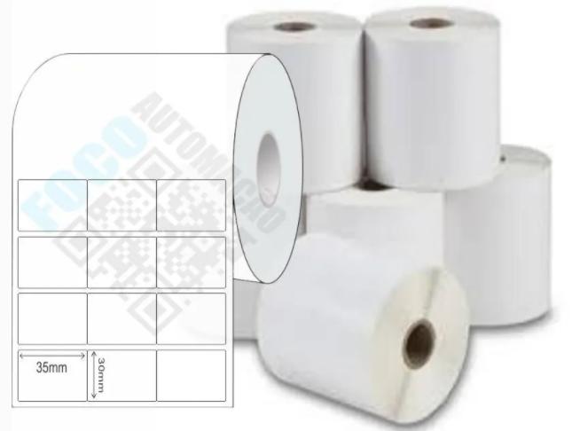 Etiqueta Adesiva 35x30 mm  (4 rolos com 4.000 un. cada)