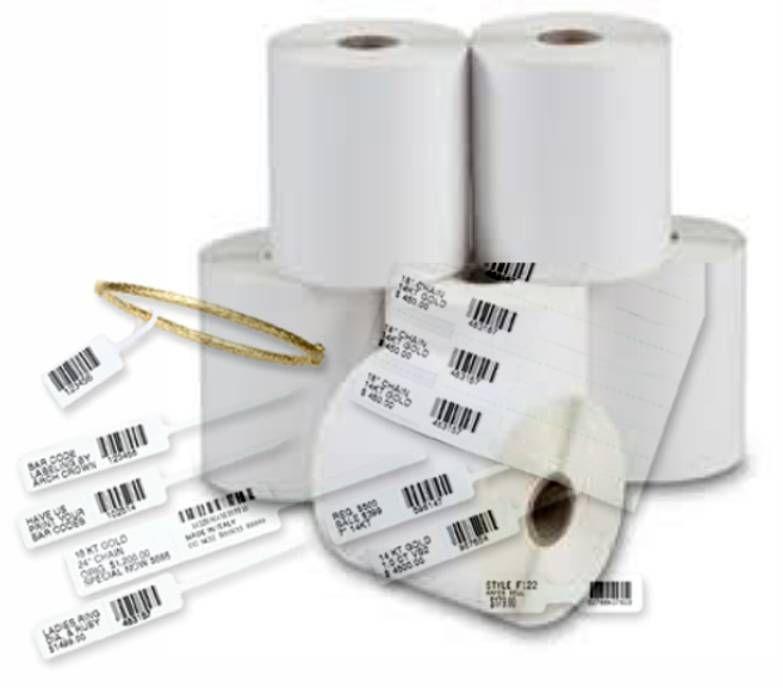 Etiqueta Adesiva para Jóias 82mm X 12mm (4 rolos c/ 3.100 un. cada)