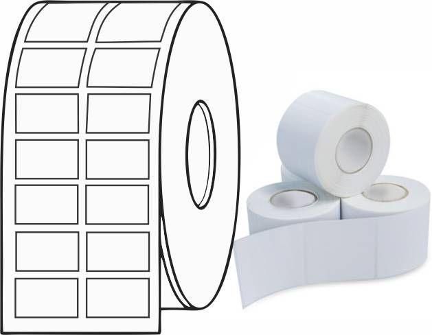 Etiqueta Adesiva Térmica 27mm X 15mm (6 Rolos c/ 3.300 un. cada)