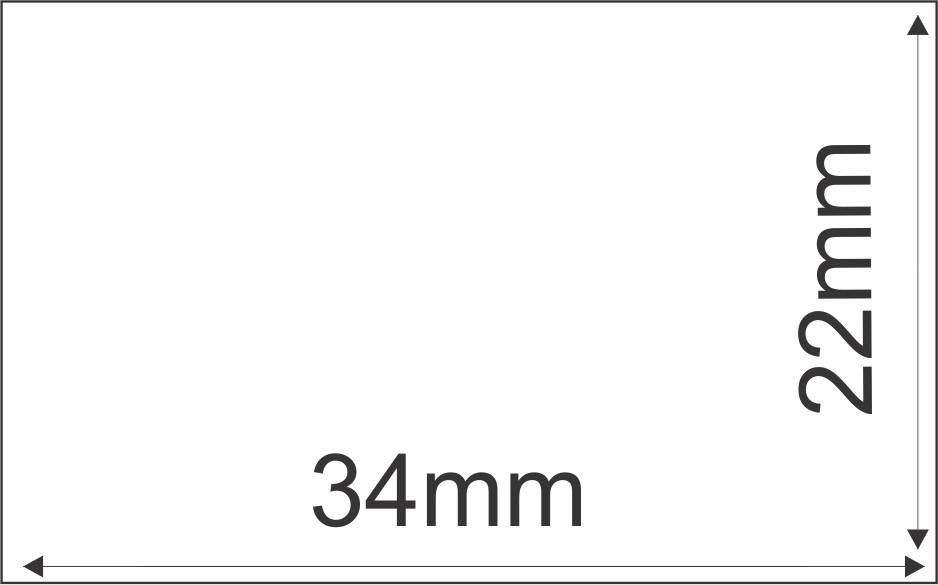 Etiqueta Adesiva Térmica 34mm x 22 mm  (4 rolos com 3.600 un. cada)