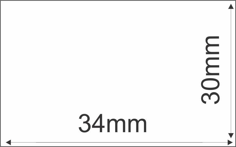 Etiqueta Adesiva Térmica 34mm x 30 mm  (6 rolos com 1810 un. cada)