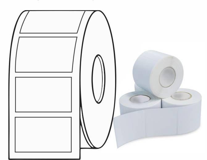 Etiqueta Adesiva Térmica 50mm x 30mm (4 rolos com 1300 un. cada)