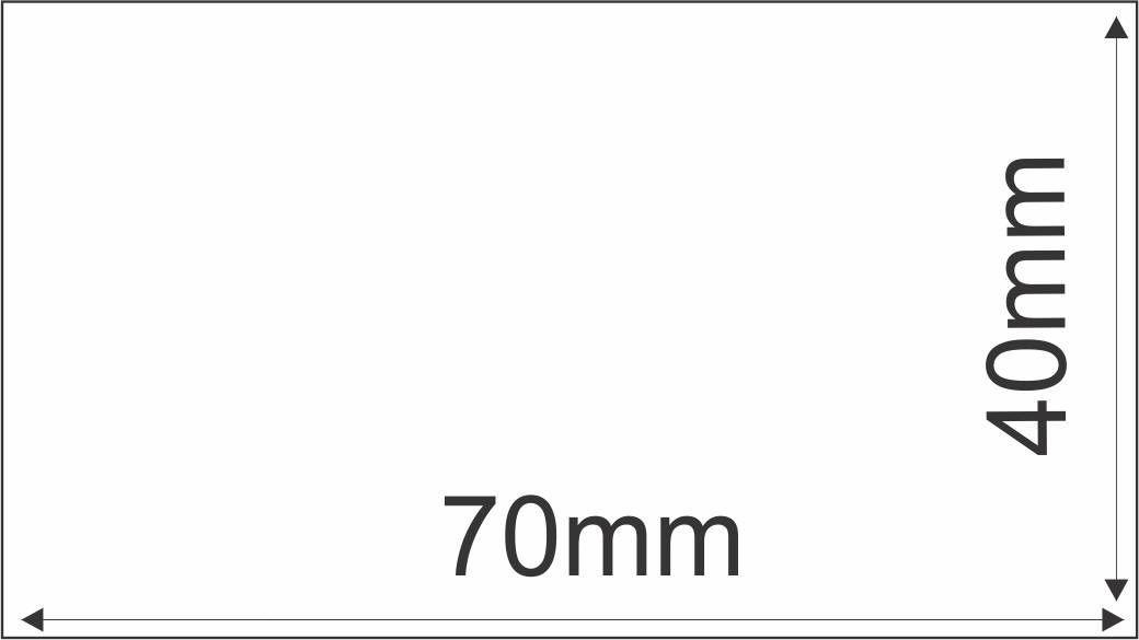 Etiqueta Adesiva Térmica 70mm X 40mm (4 Rolos 1000 un. cada)