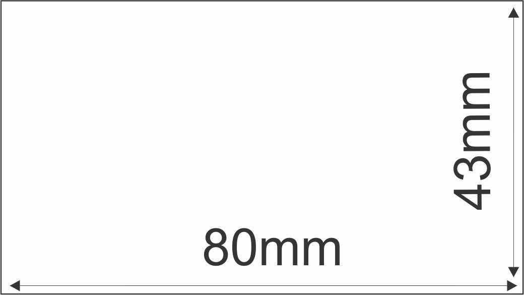 Etiqueta Adesiva Térmica 80mm 43mm (6 Rolos c/ 650 un. cada)