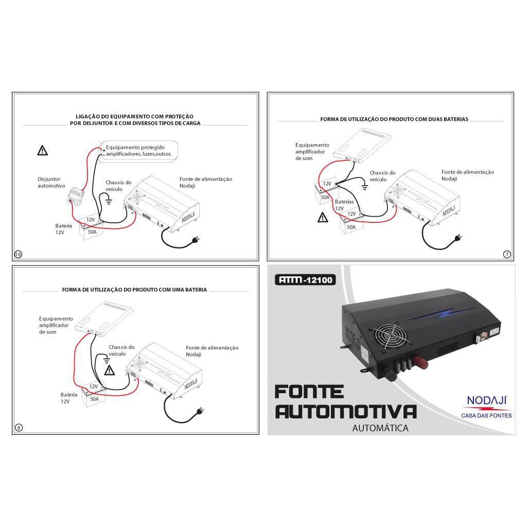 FONTE AUTOMOTIVA 12,0VDC 100A