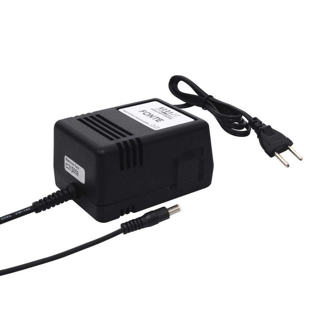 FONTE COMPATIVEL YAMAHA - BIV. 9VDC 1,5A - PLUG P4 CASIO 180G (5,5 X 1,5MM) (+)