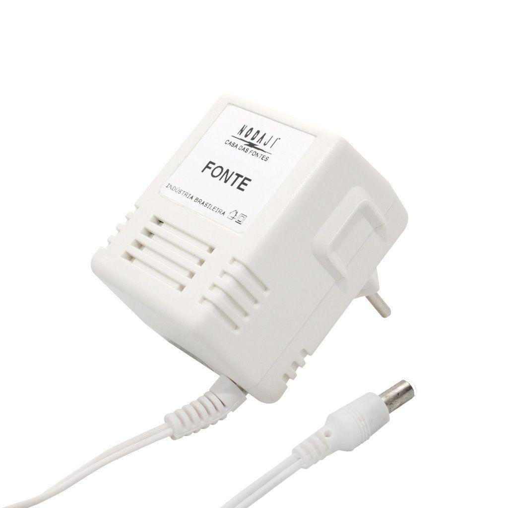 FONTE P/ BABA ELET. FISHER - BIV. 9VDC 100MA - PLUG P4 CASIO 180G (5,5 X 1,5MM) (+)
