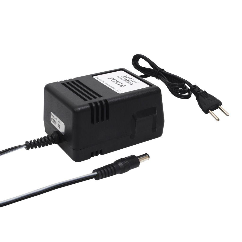 FONTE P/ CX MULT. - BIV. 12VDC 1,5A - PLUG P4 180G (5,5 X 2,1MM) (+)