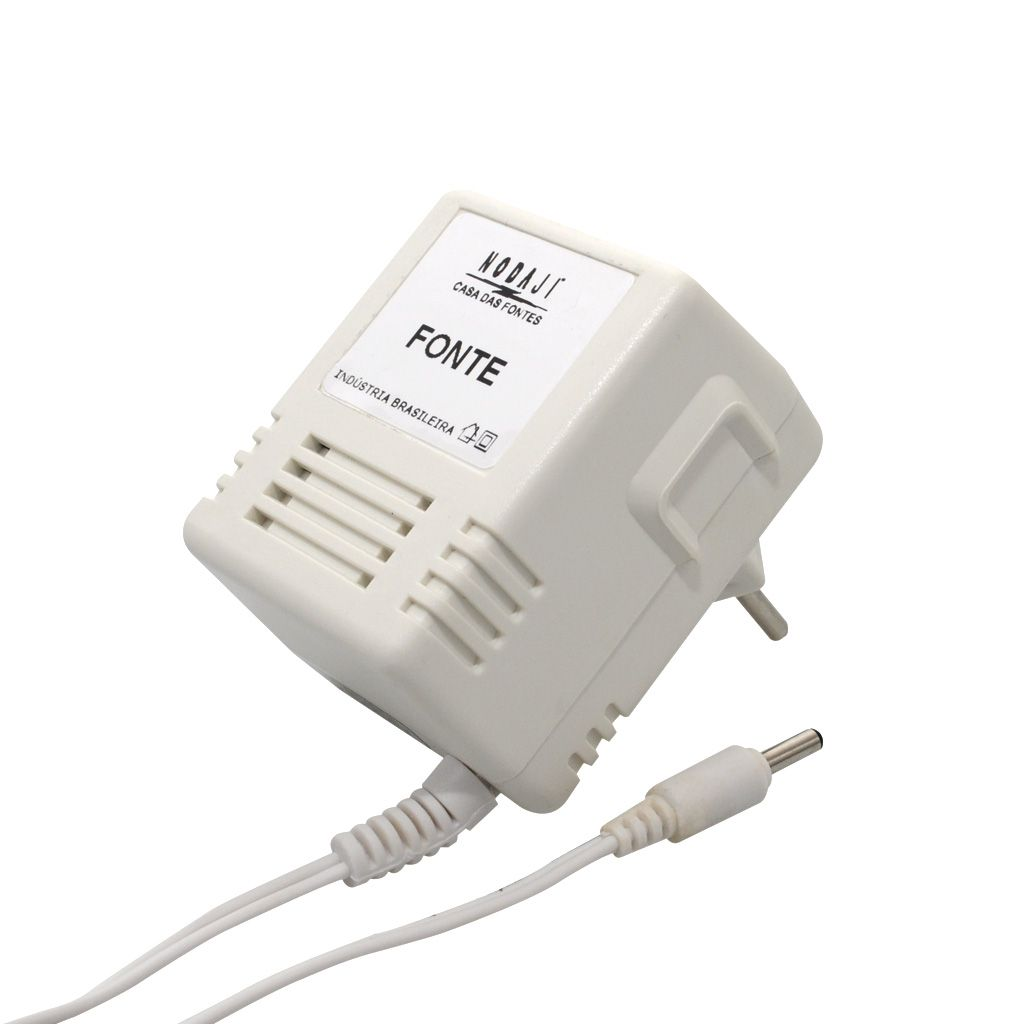 FONTE P/ DEPILADOR PHILIPS - BIV. 12VDC 400MA - PLUG P4 180G (5,5 X 2,1MM) (+)