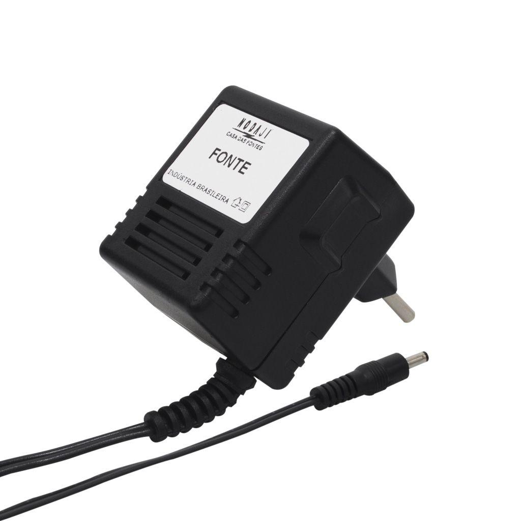 FONTE P/ DISCMAN SONY - BIV. 4,5VDC 500MA - PLUG SONY 4,5V 180G (4,0 X 1,7MM) (+)