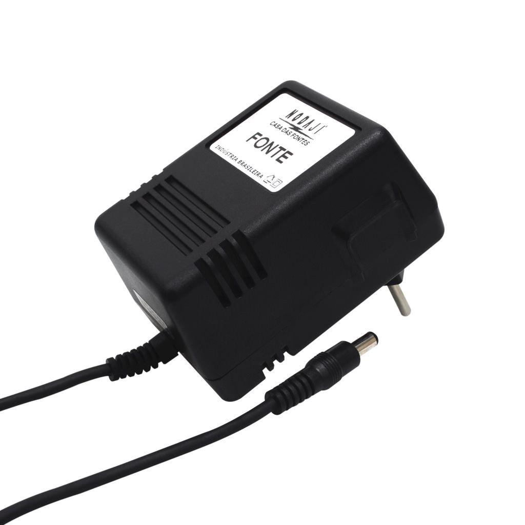 FONTE P/ HUB - BIV. 12VDC 1A - PLUG P4 180G (5,5 X 2,1MM) (+)