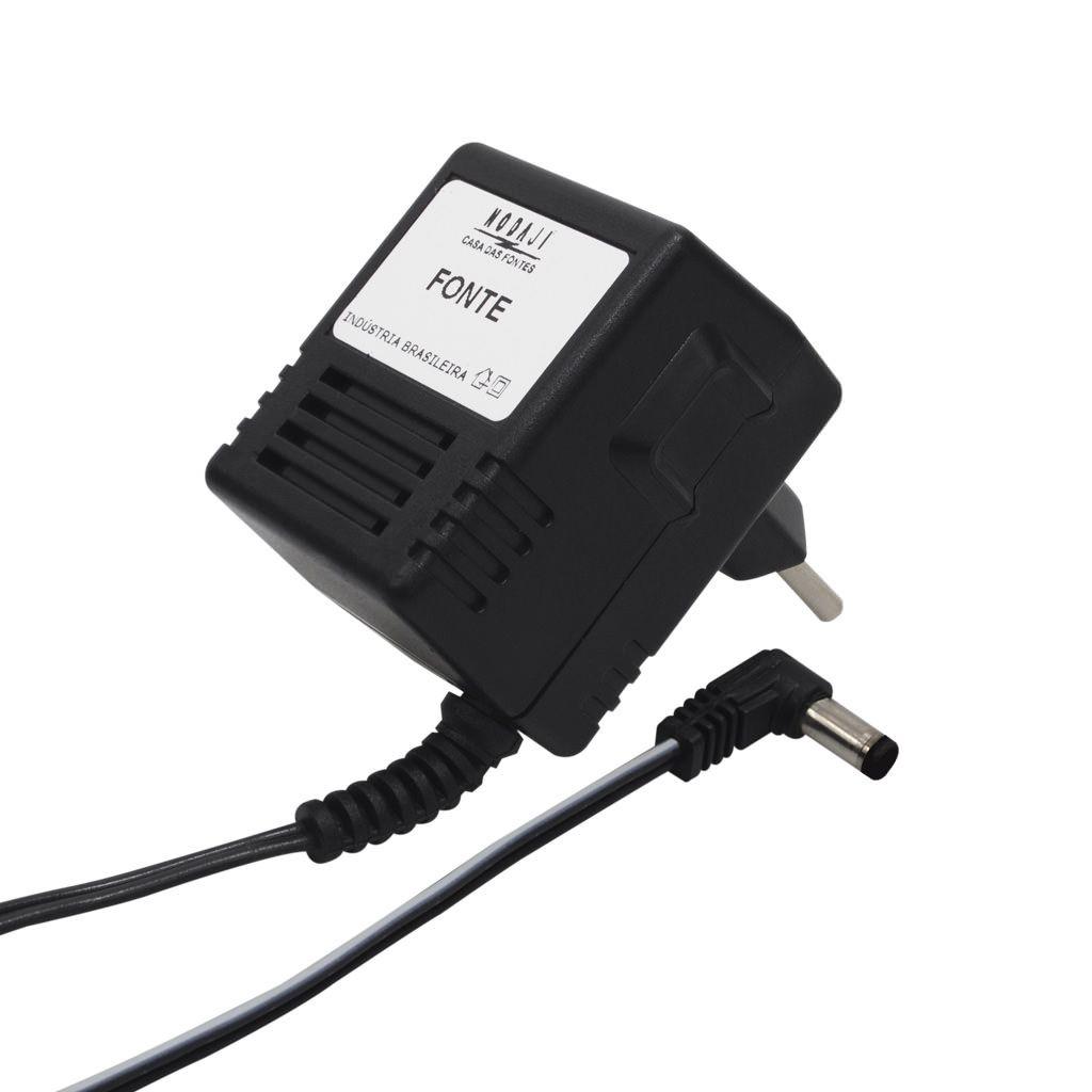FONTE P/ HUB - BIV. 12VDC 500MA - PLUG P4 90º (5,5 X 2,1MM) (+) (M)