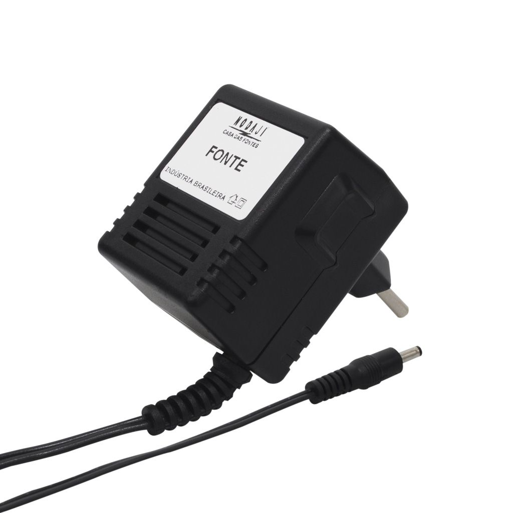 FONTE P/ HUB - BIV. 7,5VDC 1A - PLUG P4 180° (5,5 X 2,1MM) (+)
