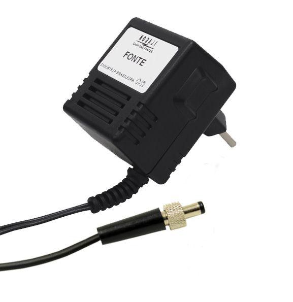 FONTE P/ MICROFONE SHURE - BIV. 15VDC 600MA - PLUG P4 C/ ROSCA