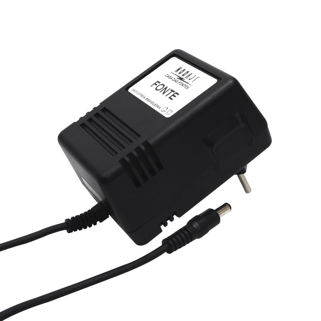 FONTE P/ TV & CD COUGAR 5 - BIV. 13VDC 1,3A - PLUG P4 180G (5,5 X 2,1MM) (+)