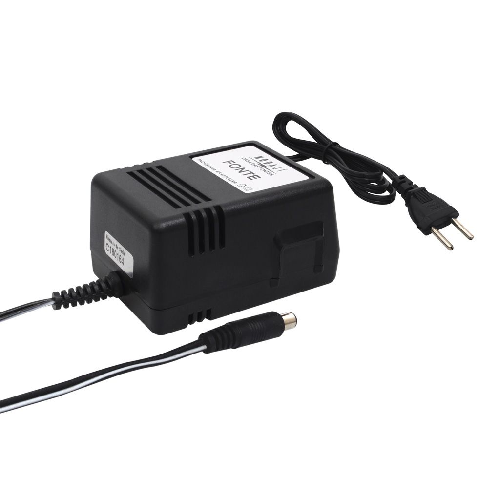 FONTE P/ TV COLORIDA 5 - BIV. 13,5V/14VDC 1,6/1,7A - PLUG P4 180G (5,5 X 2,1MM) (+)