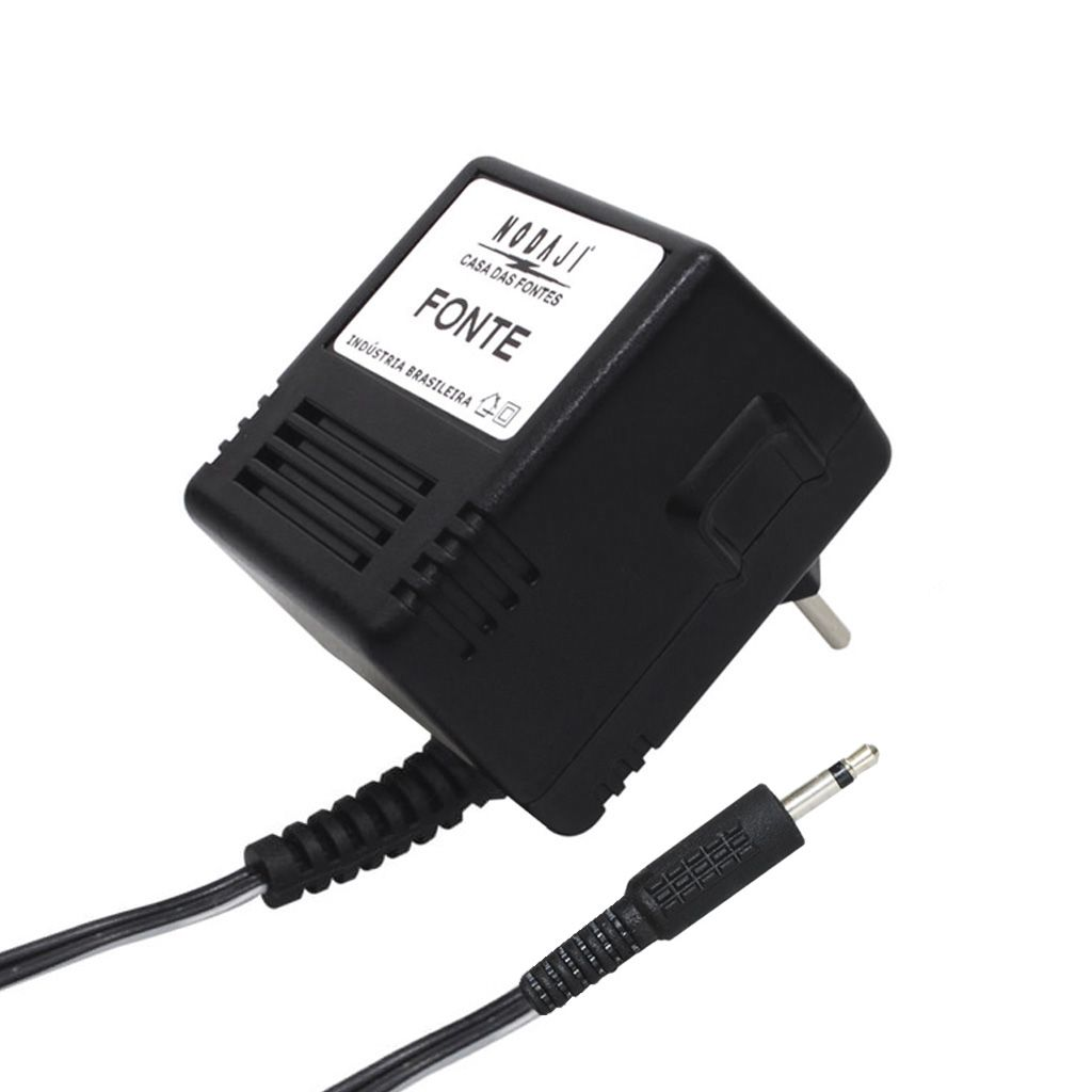 FONTE P/ VIDEO GAME ATARI - BIV. 9VDC 500MA - PLUG P2 MONO 180G (26,0 X 3,45MM) (+)