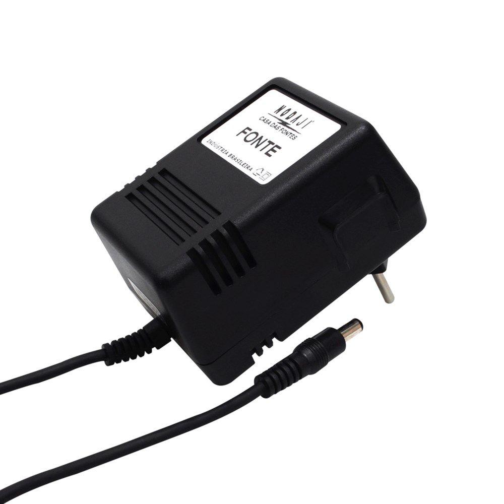 FONTE USO GERAL - BIV. 10VDC 1,1A - PLUG P4 180G (5,5 X 2,1MM) (+)