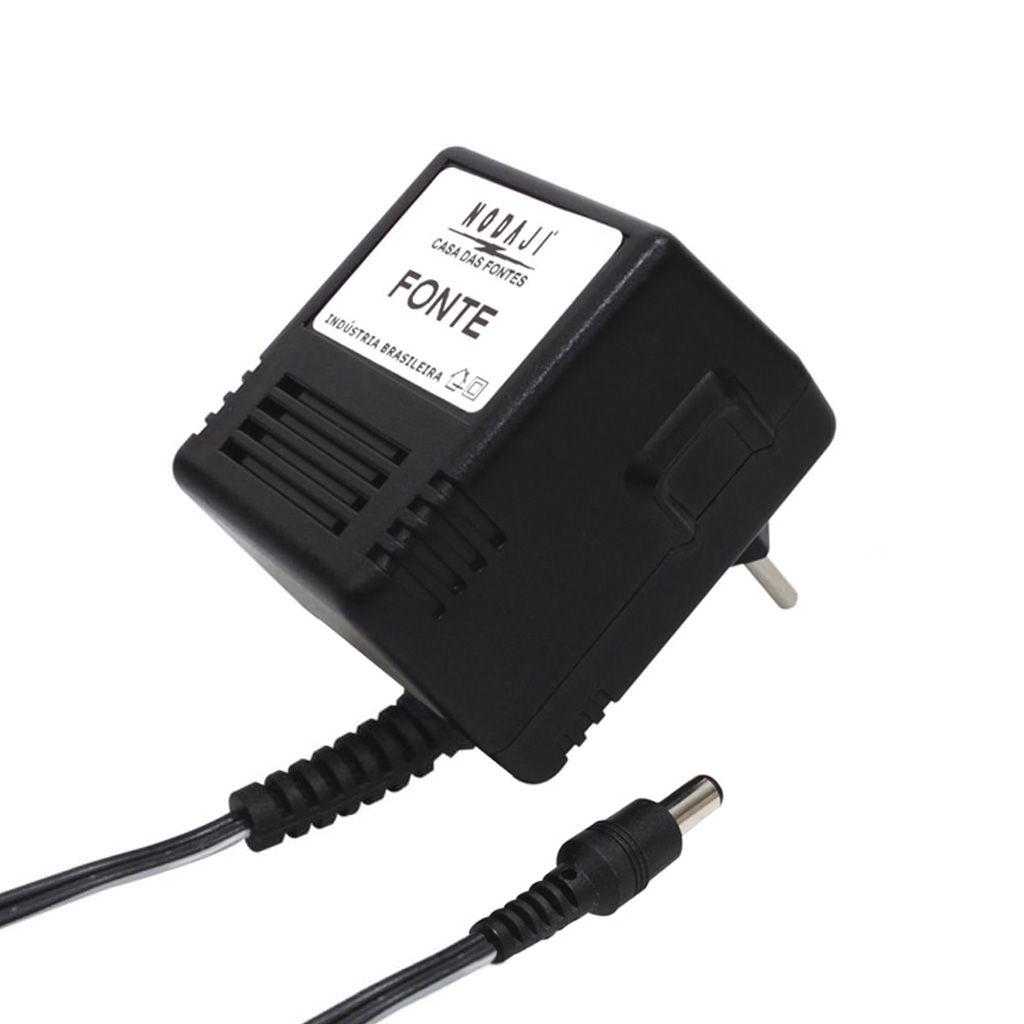 FONTE USO GERAL - BIV. 9VDC 300MA - PLUG P4 180G (5,5 X 2,1MM) (+)