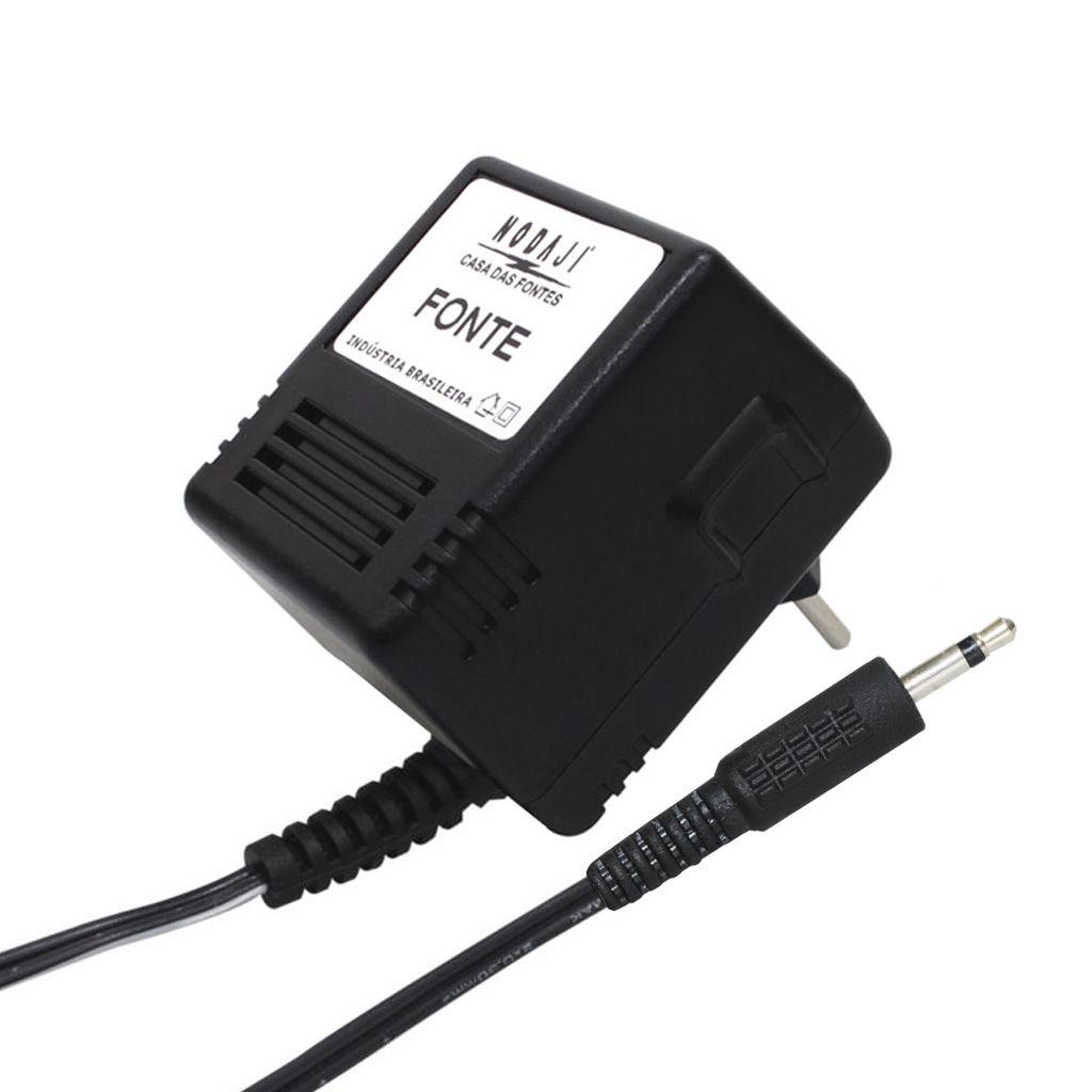 FONTE USO GERAL - BIV. 9VDC 500MA - PLUG P2 MONO 180G (+)