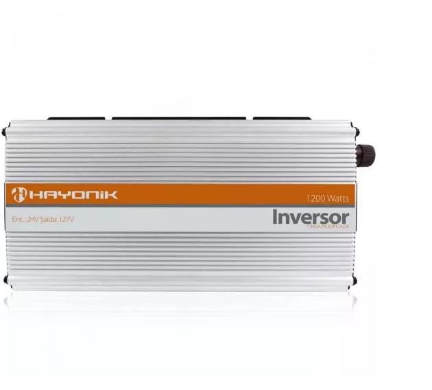 INVERSOR HAYONIK 1200W 24VDC/127V USB MODIFICADA