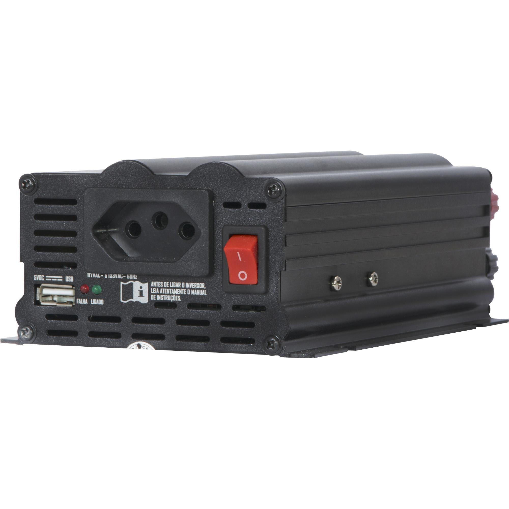 INVERSOR HAYONIK 500W 12VDC/127V USB MODIFICADA - GD
