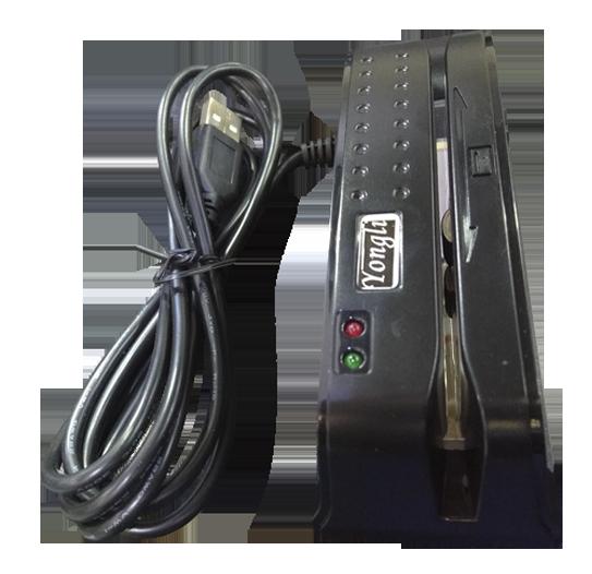 Leitor de Tarja Magnética Yongli Trilha 1 e 2 - (conexão USB)