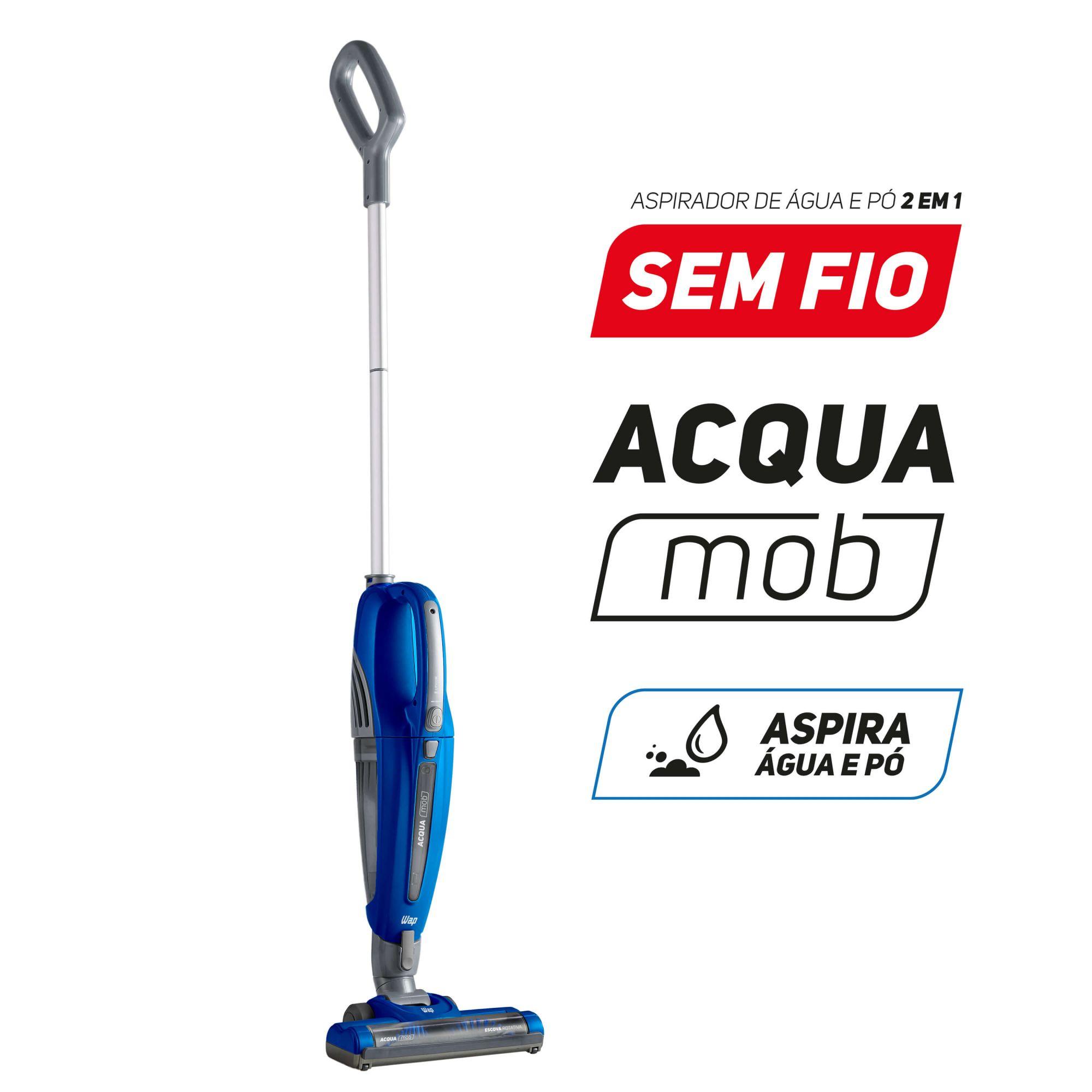 ASPIRADOR DE PÓ E ÁGUA SEM FIO 2 EM 1 WAP ACQUA MOB