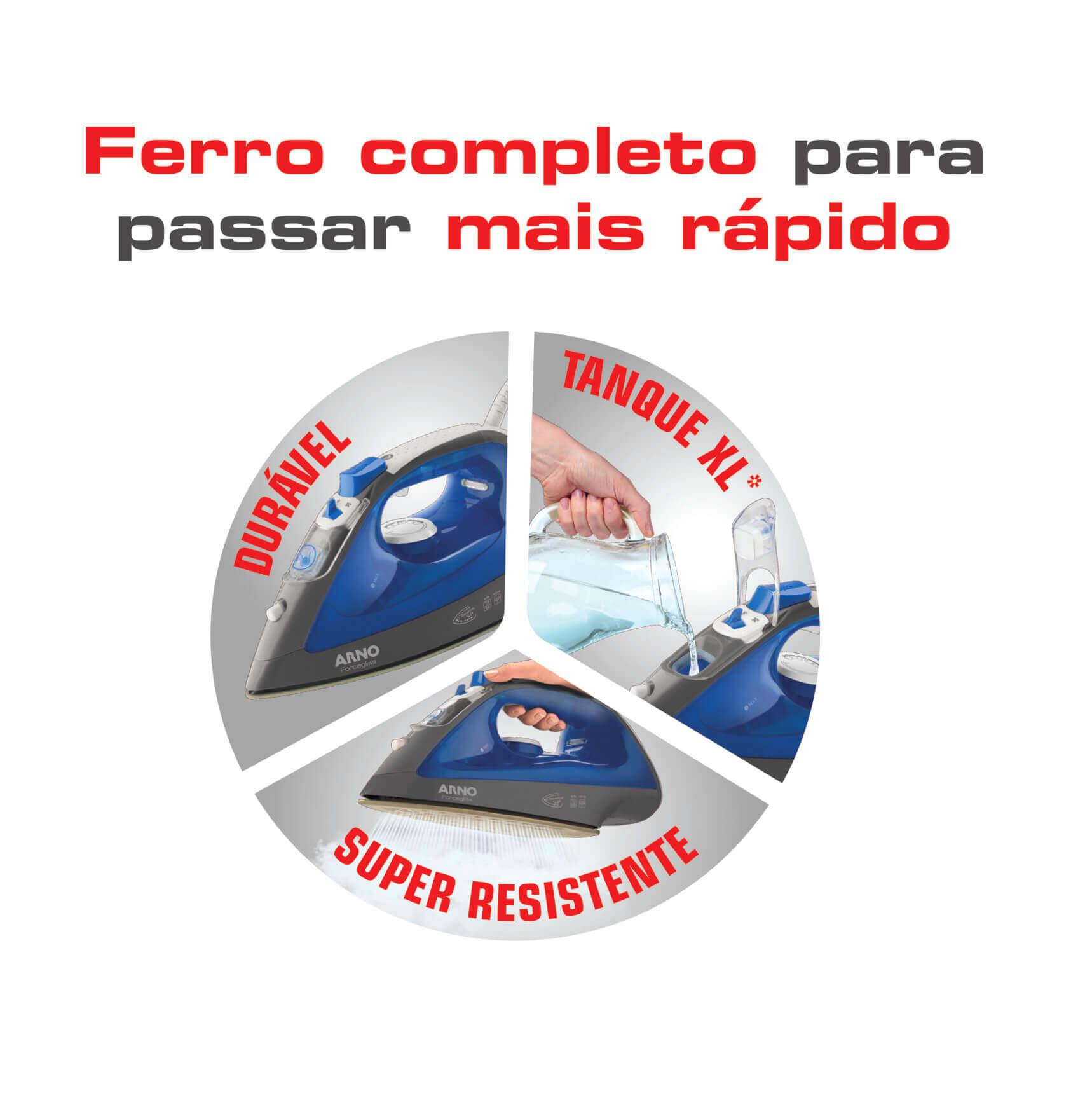FERRO A VAPOR ARNO FORCEGLISS FFC1 127V