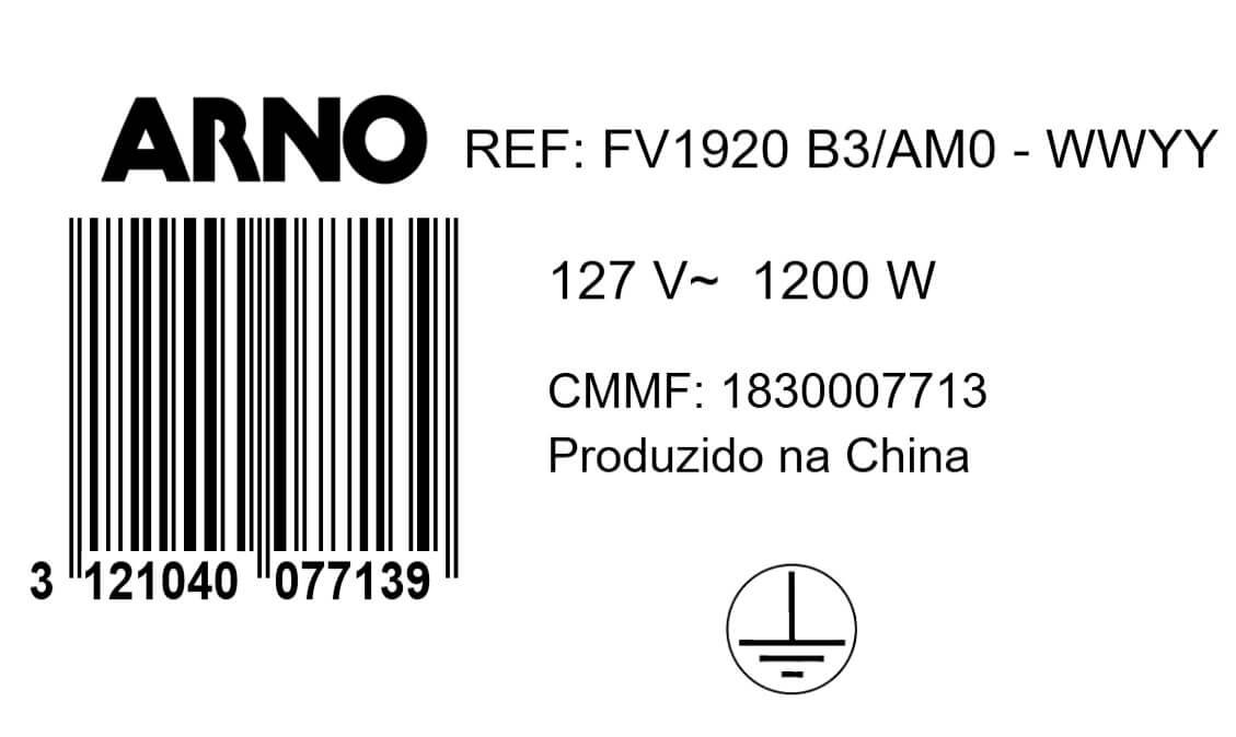 FERRO A VAPOR ELÉTRICO ARNO STEAMGLISS BASE ANTIADERENTE VERDE 127V - FSGP