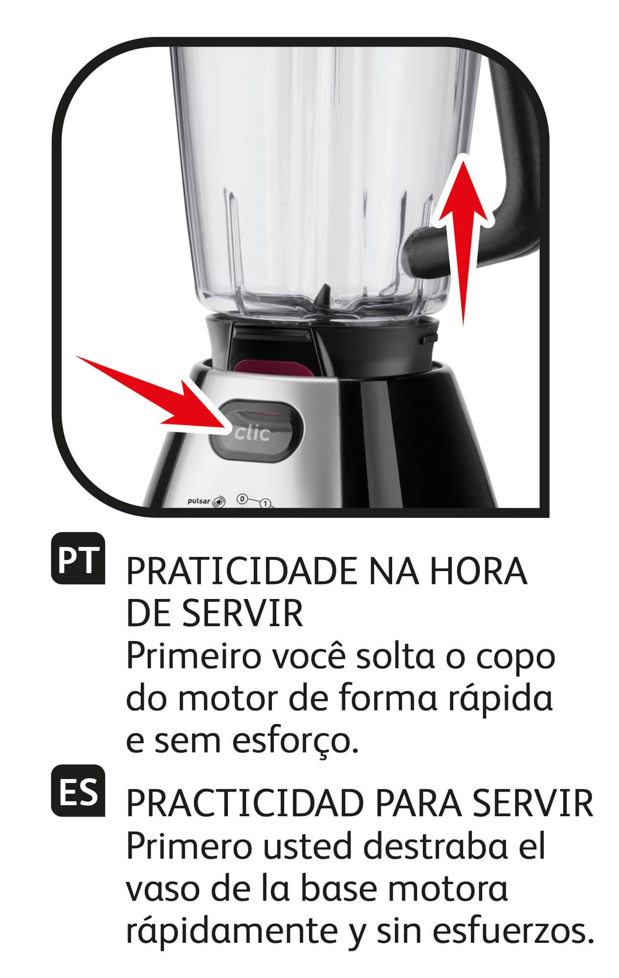 Liquidificador Arno Clic'lav Top Preto - LN74 127 V