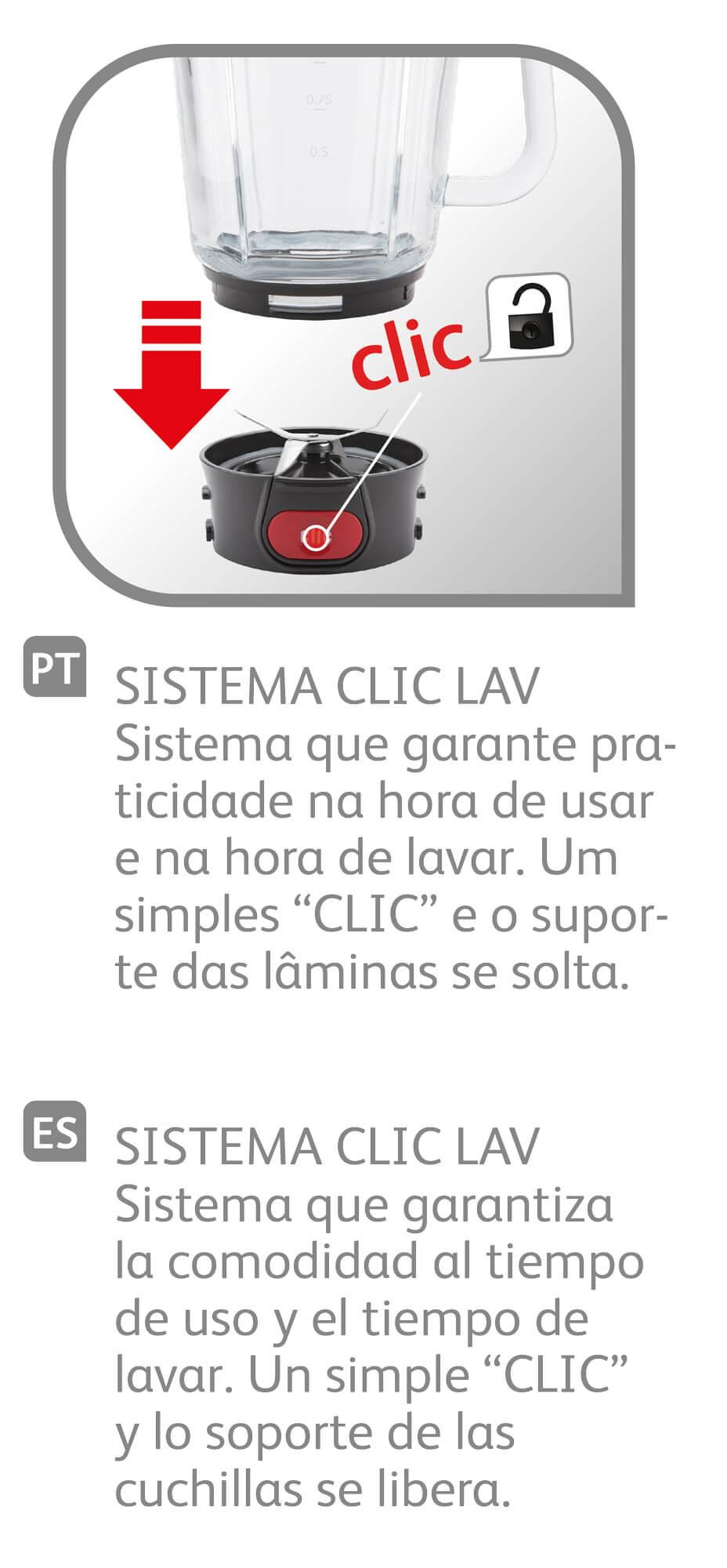 LIQUIDIFICADOR CLIC'LAV STILE ARNO LN77 127V
